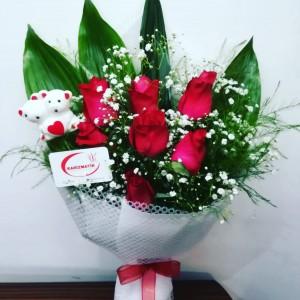 7 Kırmızı Gül Buketi Seni Seviyorum